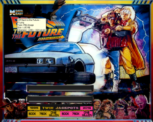 Example Back to the Future Backglass