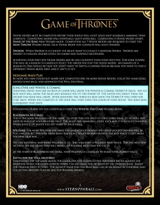 Stern Pinball Game of Thrones PRO Strategy Guide