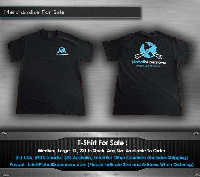 pinball supernova tshirt for sale